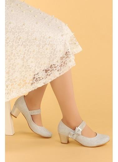 Kiko Kids Kiko 752 Çupra Günlük Kız Çocuk 4 Cm Topuk Babet Ayakkabı Gümüş
